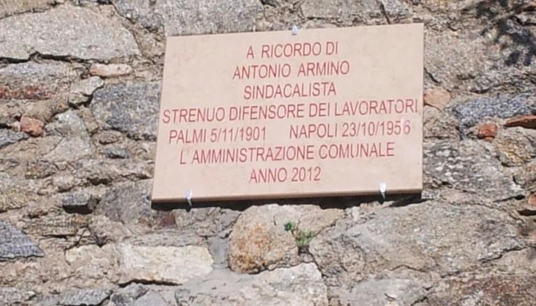 """Palmi (RC), L'Amministrazione Comunale ha """"scoperto"""" una targa marmorea in memoria di Antonio Armino."""