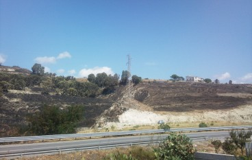 Incendio a San Lorenzo Marina (RC)