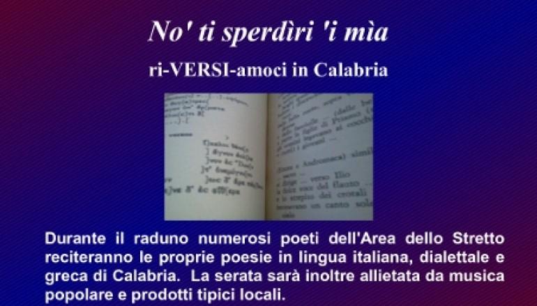 """Bagnara (RC), il 22 settembre raduno poetico """"No' ti sperdìri 'i mìa- ri-VERSI-amoci in Calabria"""""""