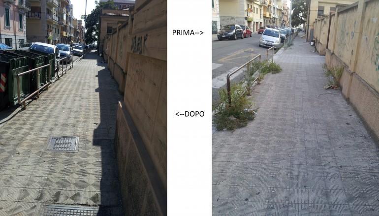 """I volontari di """"Idee in azione"""" ridanno decoro ai marciapiedi antistanti la scuola """"Principe di Piemonte"""""""