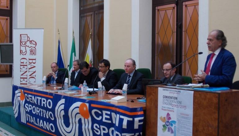 Il Coni Calabria presente alla convention di presentazione della stagione sportiva 2012/2013 del comitato provinciale CSI di Reggio Calabria