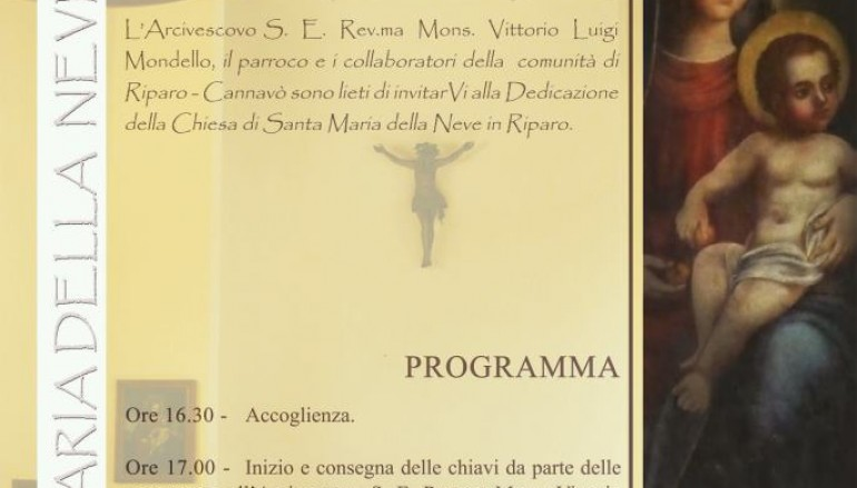 Reggio Calabria, solenne liturgia di dedicazione della Chiesa di S.Maria della Neve di Riparo