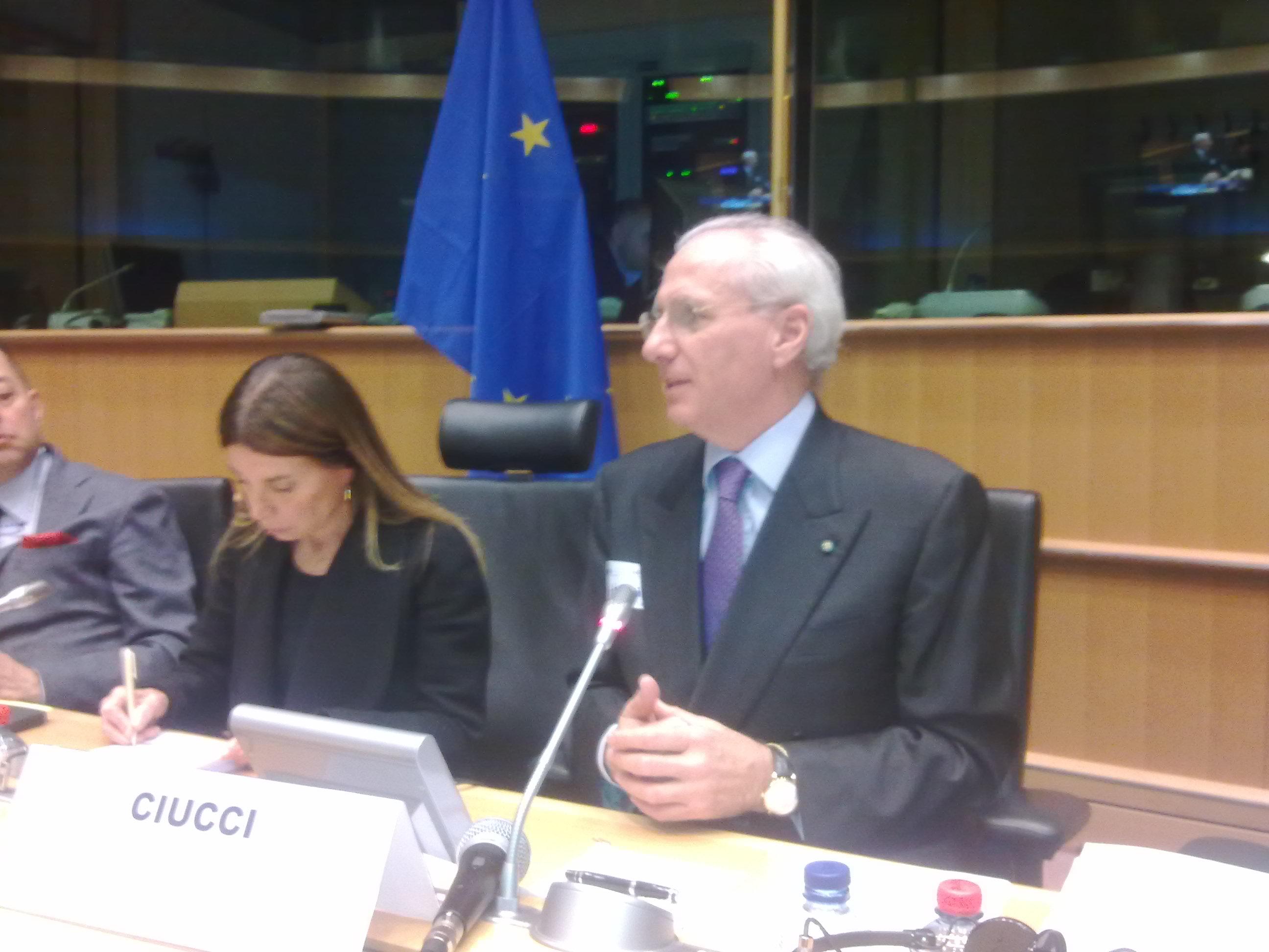 Ciucci al parlamento europeo la nuova sa rc un for Oggi al parlamento italiano