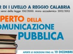 """Reggio Calabria, avviato il """"Master di I livello in Esperto della Comunicazione Pubblica"""""""