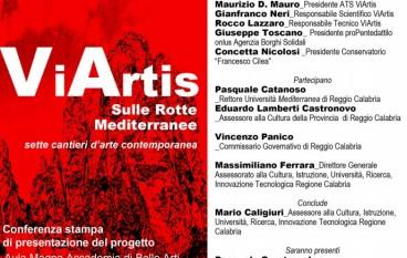 """Reggio Calabria, presentazione del Progetto """"Via Artis-sulle rotte Mediterranee"""""""