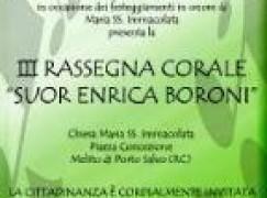 """A Melito di Porto Salvo 3^ edizione della Rassegna Corale """"Suor Enrica Boroni"""""""