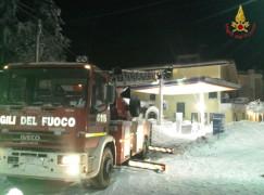 Neve a Villaggio Mancuso, Vigili del Fuoco a lavoro