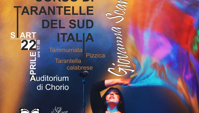 Parte a Chorio il Corso di Tarantelle con Giovanna Scarfò