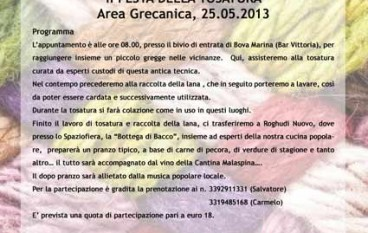 Al via la 2^ Festa della Tosatura Area Grecanica