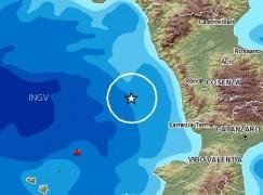 Scossa terremoto a largo costa Calabria
