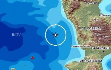 Terremoto a Cosenza di magnitudo 2.4