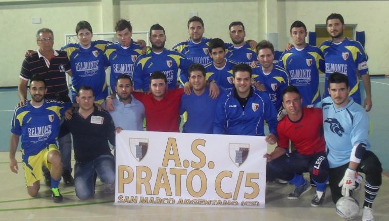 Campionato C5 MSP Cosenza, l' AS Prato San Marco per la terza volta consecutiva campione provinciale