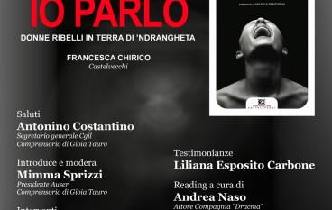 """Gioia Tauro (RC), Auser presenta il libro """"Io parlo"""" di Francesca Chirico"""