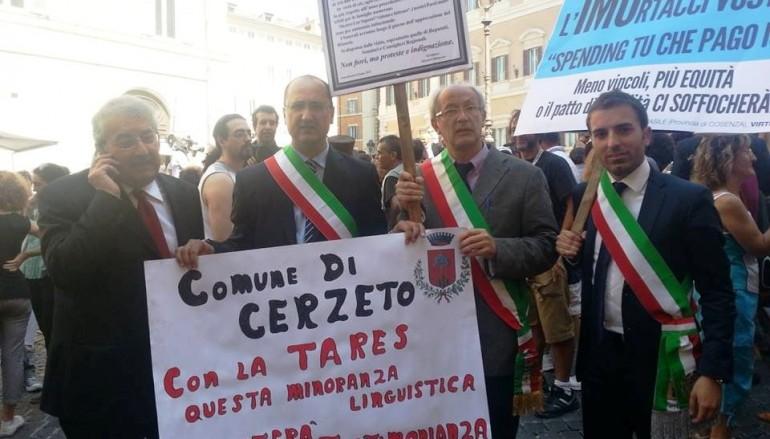 Ernesto Magorno alla manifestazione a Roma con sindaci contro la Tares