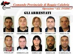 All Inside 3, i nomi degli arrestati