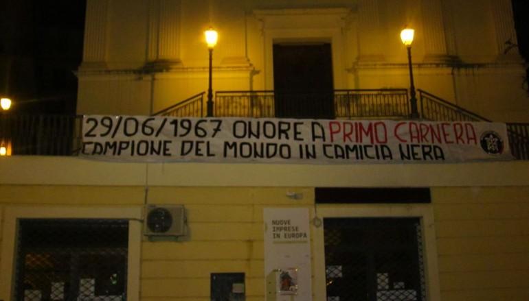Pugilato, l'omaggio di CasaPound a Primo Carnera