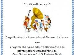 """Jacurso (CZ), saggio del Laboratorio musicale comunale """"Uniti nella musica"""""""
