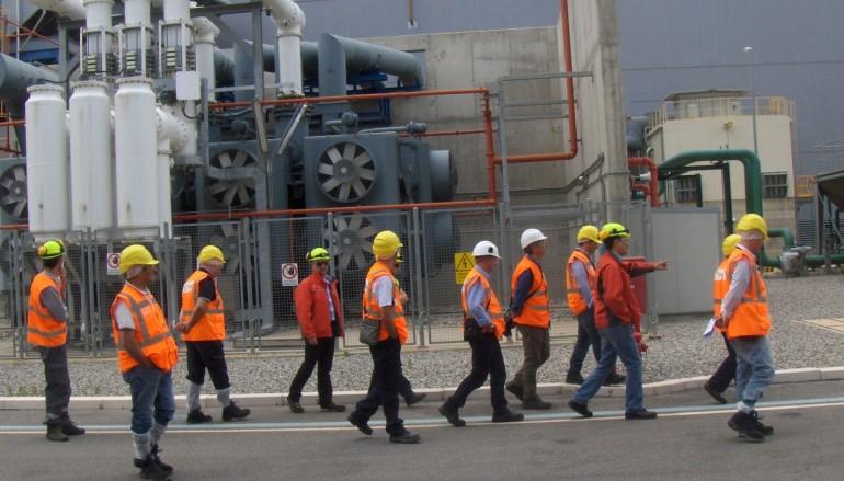 Visita ispettiva Arpacal alla centrale termoelettrica Ergosud di Scandale