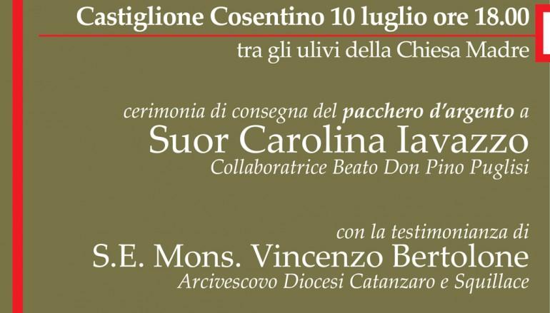 Pacchero d'Argento, Suor Carolina Iavazzo e Monsignor Bertolone a Castiglione