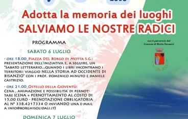 """A Motta San Giovanni l'iniziativa """"Adotta la memoria dei luoghi"""""""