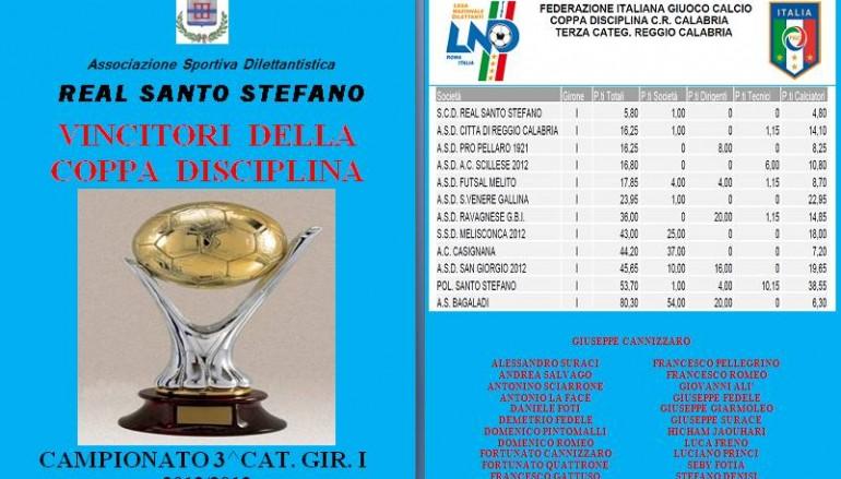 Il Real Santo Stefano si è aggiudicato la Coppa Disciplina
