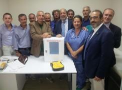 La Polizia Provinciale di Reggio Calabria dona un defibrillatore al P.P.I. di Palmi