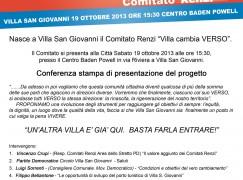 Nasce a Villa San Giovanni il Comitato Renzi Villa cambia VERSO
