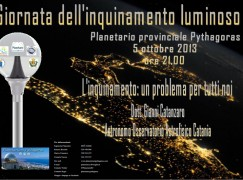 Il Planetario Pythagoras propone la Giornata nazionale sull'inquinamento luminoso