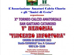 """A Chorio il quinto Memorial """"Vincenzo Infortuna"""""""