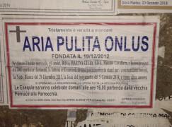 """Bova Marina, manifesto funebre contro """"Aria Pulita"""""""