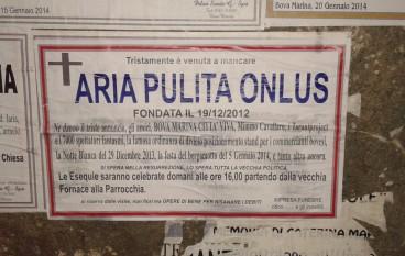 Bova Marina offesa e indignata per il gesto ai danni di Aria Pulita
