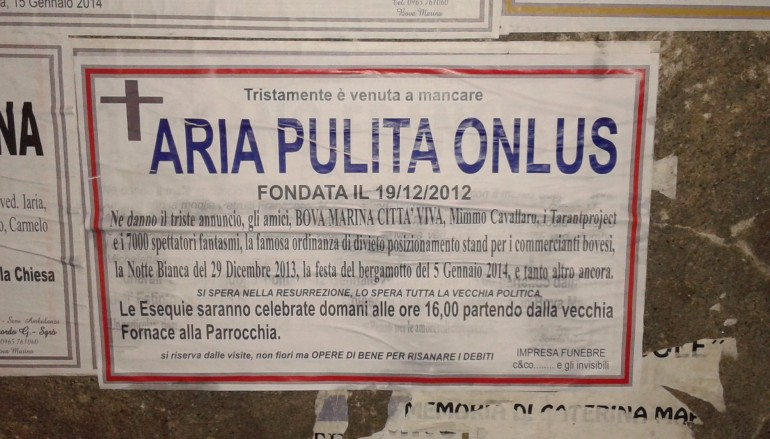 Forum Area Grecanica esprime solidarietà ad Aria Pulita