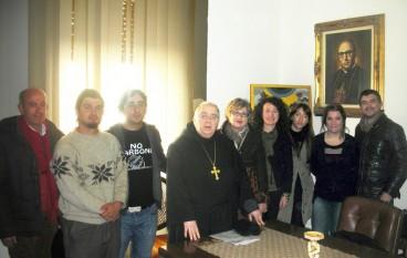 No carbone incontra arcivescovo Morosini