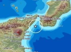 Terremoto nello Stretto di Messina di magnitudo 3.2
