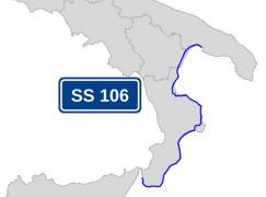 Lavori di manutenzione sulla S.S 106