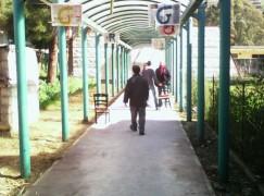 Installazioni in carta alla vecchia stazione di Catanzaro
