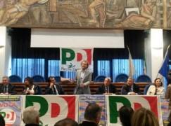 Il sottosegretario alla Presidenza del consiglio Luca Lotti a Catanzaro