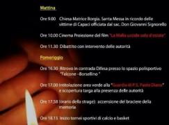 Borgia commemora il 22esimo anniversario della strage di Capaci