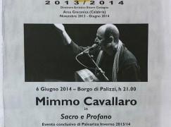 Paleariza Inverno, Mimmo Cavallaro in concerto a Palizzi