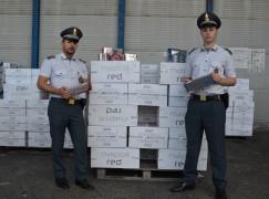 Gioia Tauro, sequestrate 10 tonnellate di sigarette di contrabbando