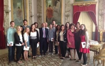 """Gli studenti della """"Pennsylvania State University"""" in visita alla Provincia"""