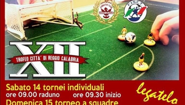 """Al via la XII edizione del torneo """"Super Subbuteo 9 Città di Reggio Calabria"""""""