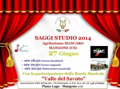 Banda musicale Valle del Savuto, saggi studio 2014