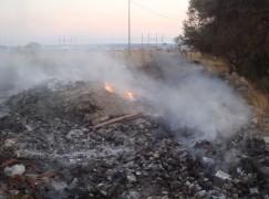 Rifiuti bruciati, rischio epidemie a Lazzaro