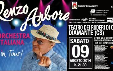 Diamante (Cs), arrivano Renzo Arbore e l'Orchestra Italiana