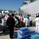 Immigrazione nave Marina in porto Reggio Calabria
