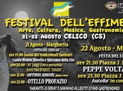 Celico, al via la sesta edizione del Festival dell'Effimero