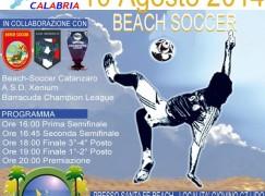 """Giovino (CZ), in scena la """"PGS Summer Cup 2014"""" di beach soccer"""