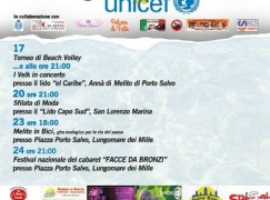 Agosto Unicef a Melito di Porto Salvo: gli eventi dal 17 al 24 agosto