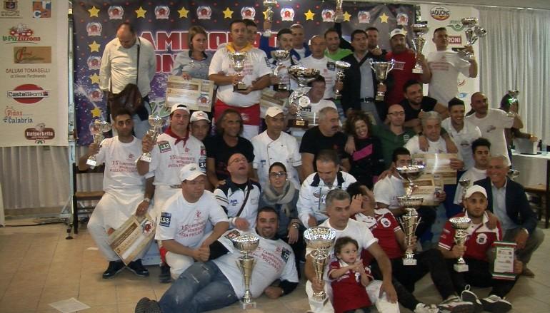I vincitori del 15° Campionato Mondiale di Pizza Piccante 2014